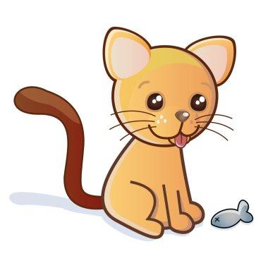 kitten vector illustration