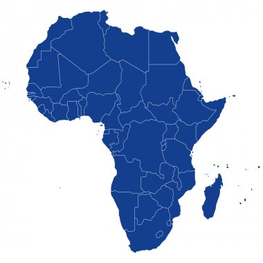 highly detailed political map Africa