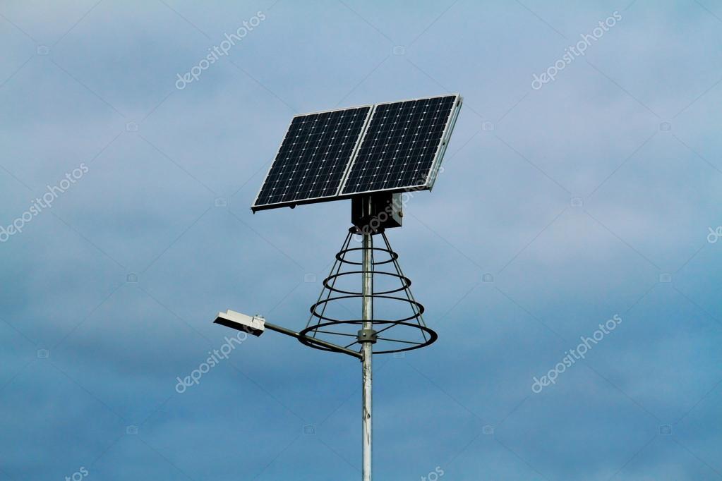 Solar Powered Lamp Post U2014 Stock Photo