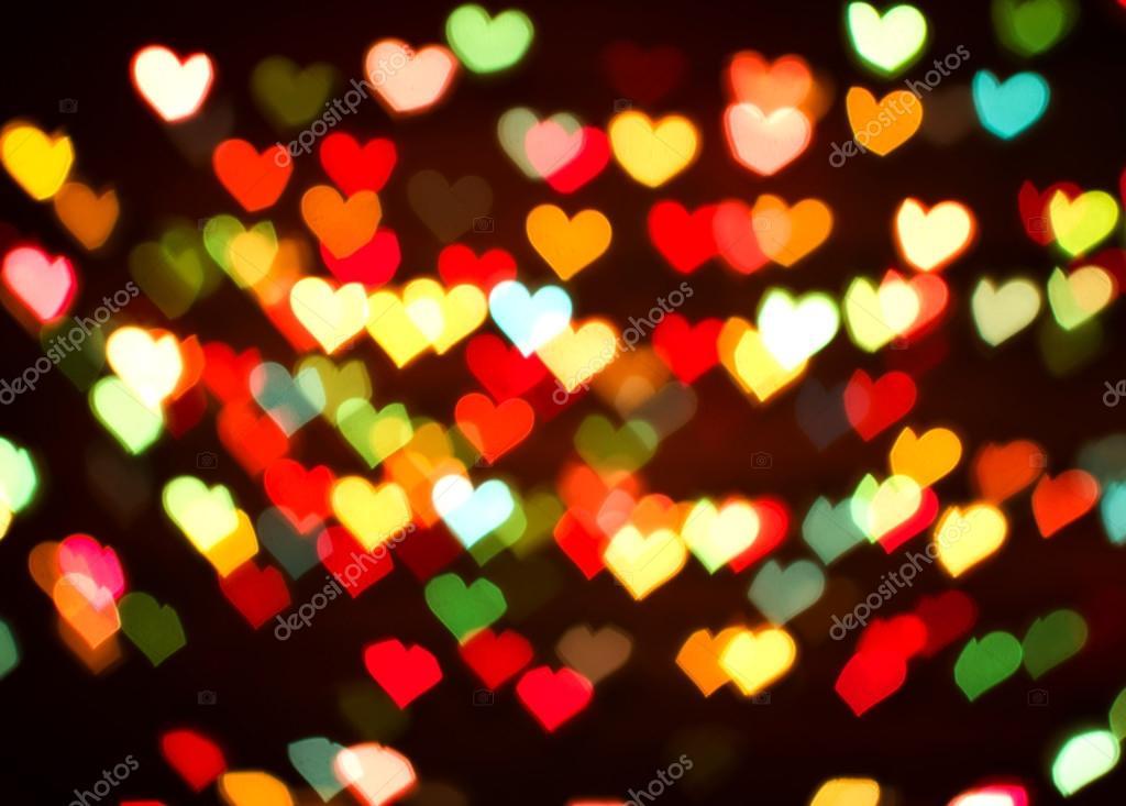 Desenfocar fondo bokeh de luces de corazones de colores for Luces de colores