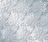 Fotografia Motivo floreale vettoriale su sfondo argento