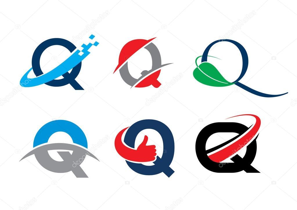 alphabet letter q stock vector