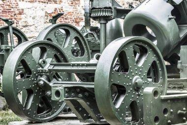 Austro Hungarian WWI Siege Howitzer Skoda 305 mm Gun Carriage Detail