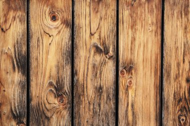 Old Rustic Pine Wood Fence Detail