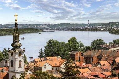 Panoramic View From Gardos Lookout in Zemun on River Danube Town of Zemun and Belgrade, Serbia