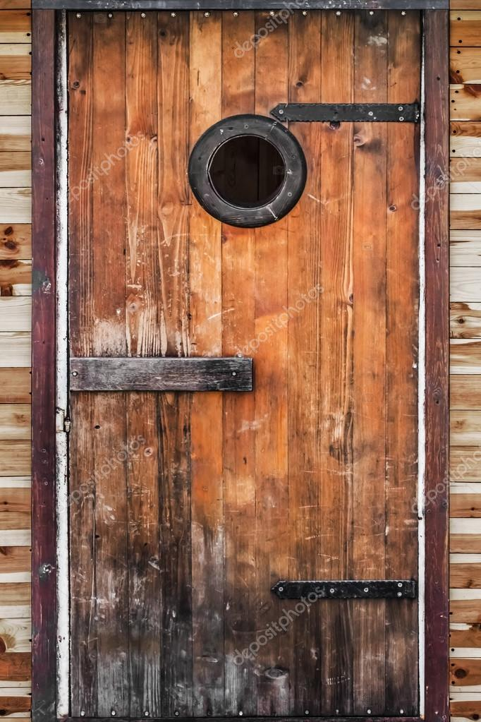 Old Hut Wooden Door