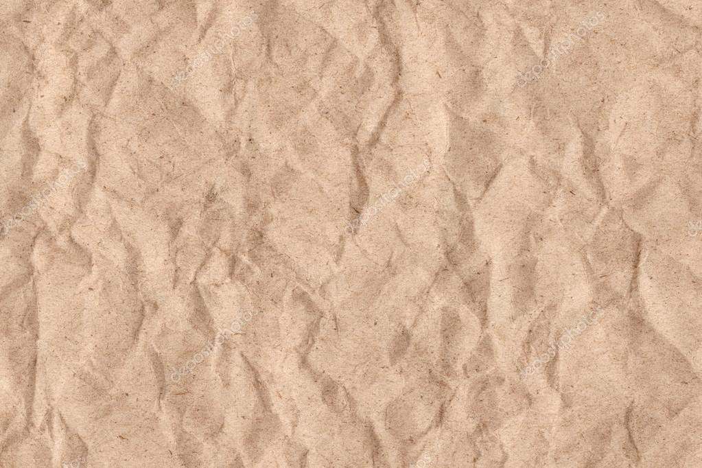 Marrom De Reciclar Papel Kraft Amassado Textura Grunge