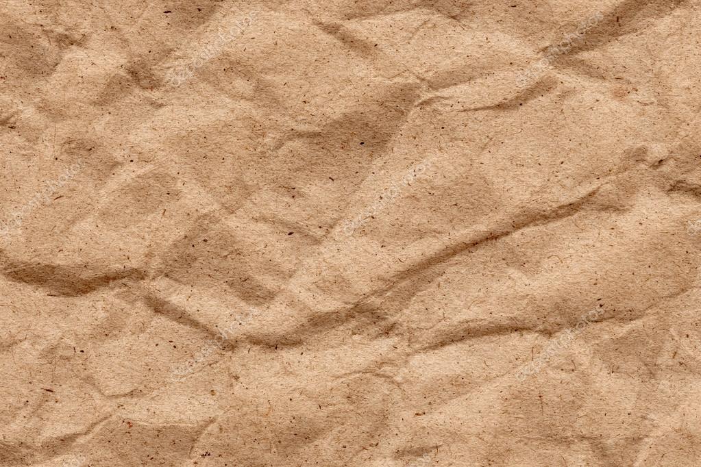 Reciclar Marrón De Papel Kraft Arrugado Textura Grunge