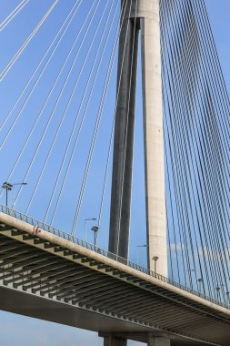 Suspension Bridge Over Ada Pylon - Detail - Belgrade - Serbia