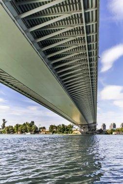 Suspension Bridge Over Ada Girder Lower Framework Grid Detail - Belgrade - Serbia