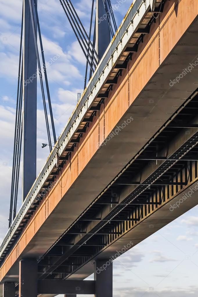 Suspension New Railway Bridge - Modular Box Girder Framework Detail - Belgrade - Serbia