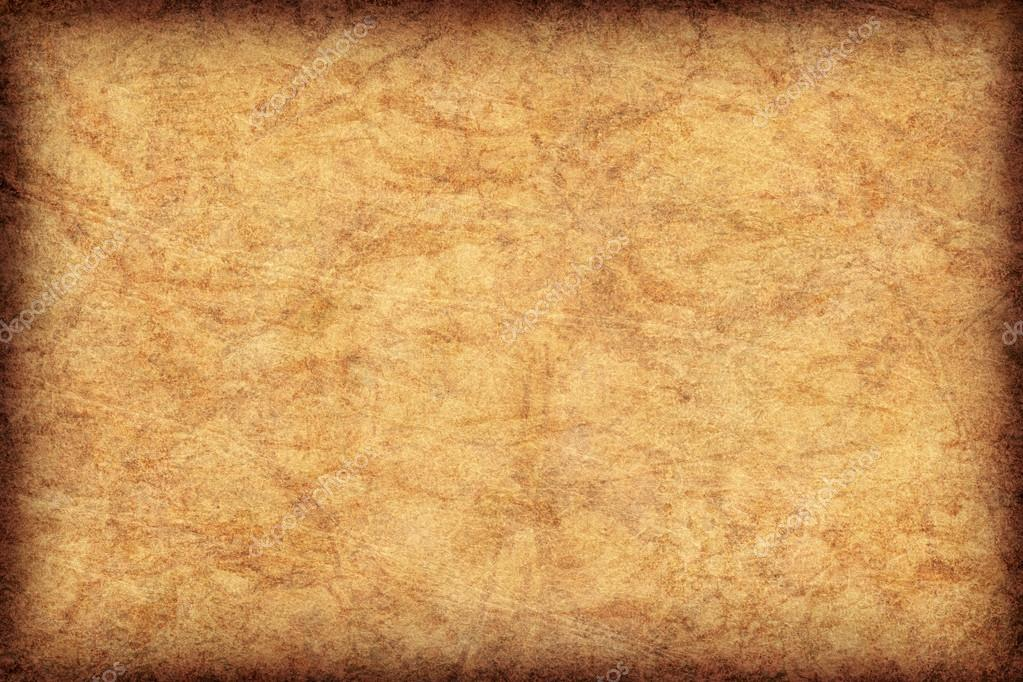 Antique Parchment Vignette Grunge Texture Stock Photo