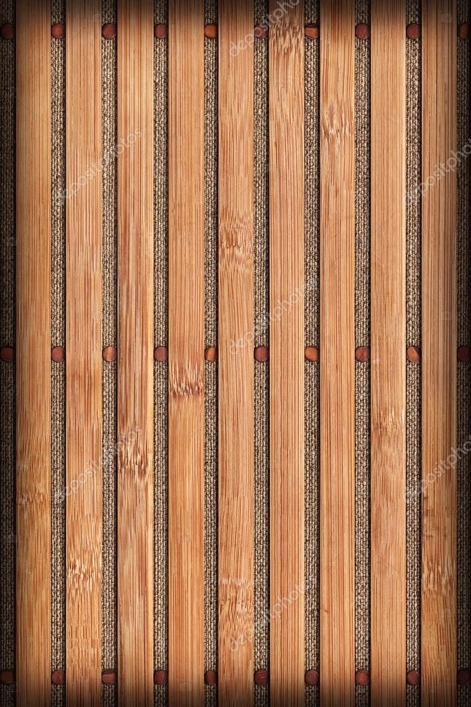 Bambus Tischset Naturlichen Ocker Gebleicht Und Fleckig Vignette