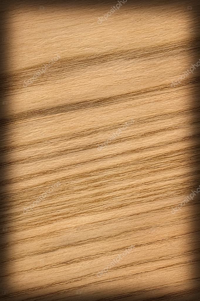 Natural Oak Wood Ocher Vignette Grunge Texture Sample
