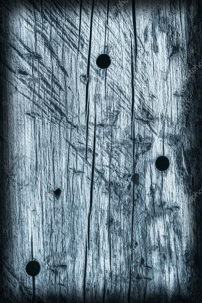 Old Knotted Weathered Cracked Rotten Wood Blue Vignette Grunge Texture