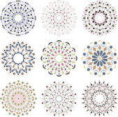 Fotografie Set of round elements for design.