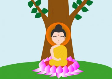 budha buddhism vector