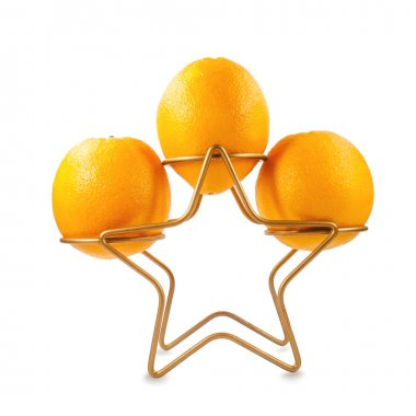 oranges on the stand gold star
