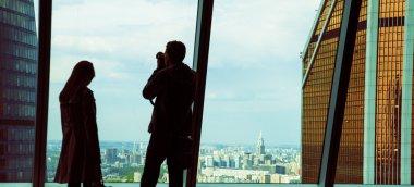 Man takes photo.