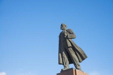 Monument to Vladimir Lenin.