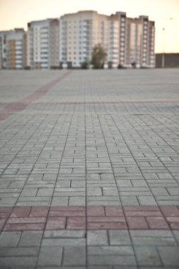 gray patterned paving tiles