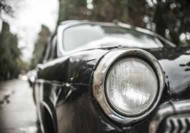 old retro black car