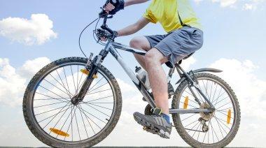 Mountain Biker riding bike