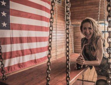 Stylish american woman