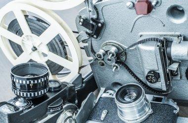 camera, film tape Projector