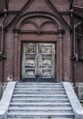 wooden texture front Door