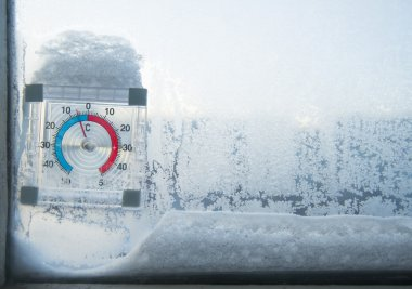 Thermometer out the window