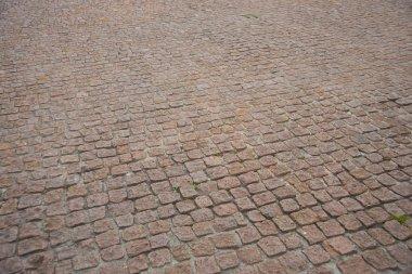 Brown old cobblestones