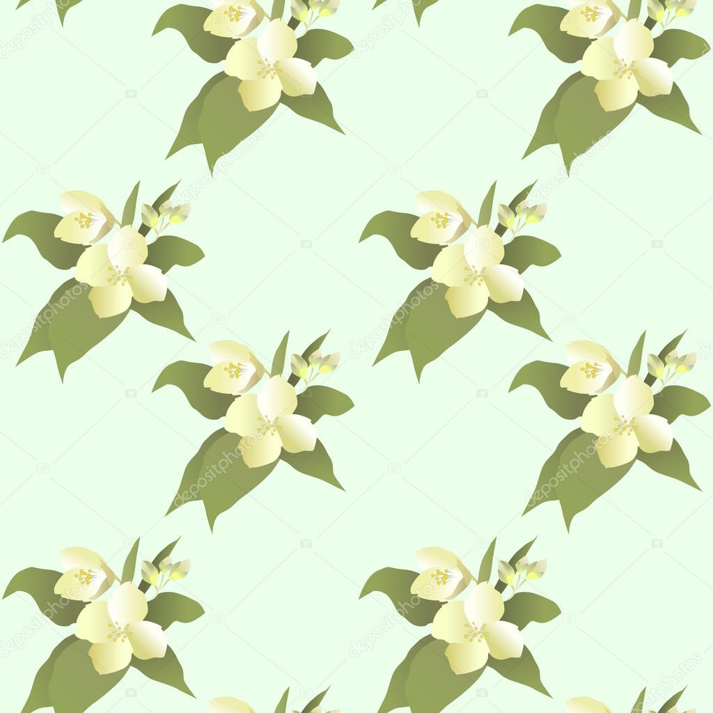Vector abstract jasmine flower seamless pattern stock vector vector abstract jasmine flower seamless pattern stock vector izmirmasajfo