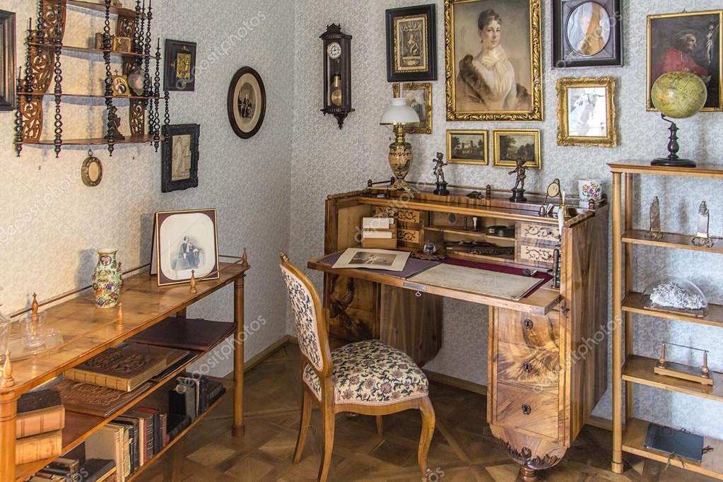 Classic Interior In Biedermeier Style Stock Editorial Photo