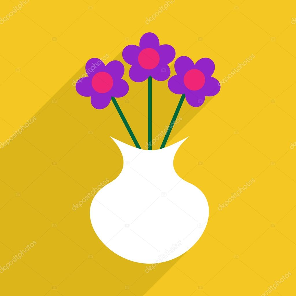 Flat design with shadow and modern icon flower vase stock vector flat design with shadow and modern icon flower vase stock vector reviewsmspy