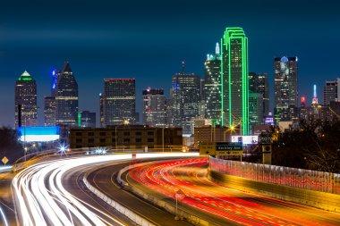Dallas skyline by night