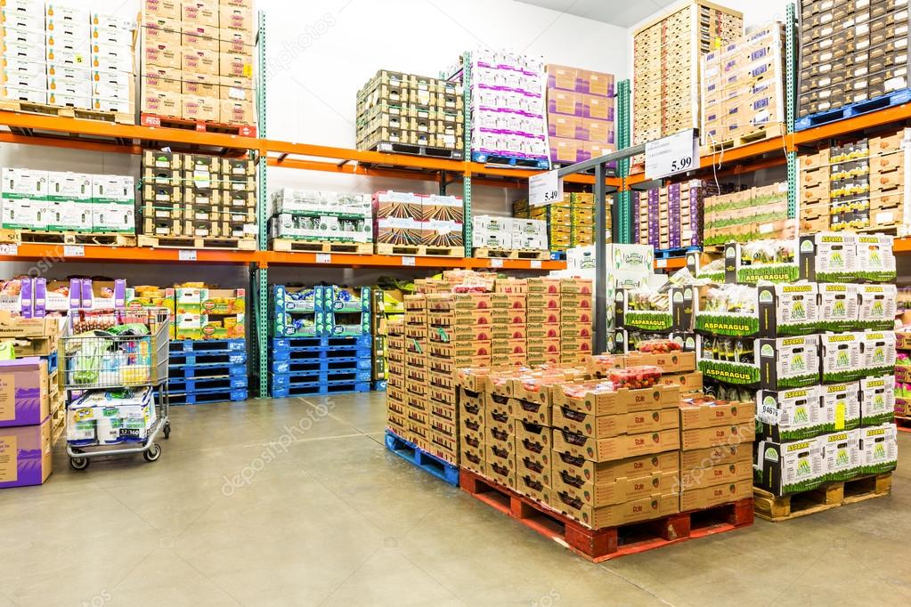 Fresh produce cold room in a costco store stock editorial photo costco wholesale corporation a membership only warehouse club is the second largest retailer in usa photo by mandritoiu thecheapjerseys Images