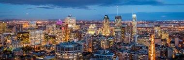 Montreal panorama at dusk