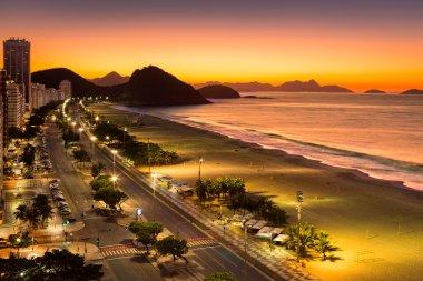 Copacabana Beach at dawn