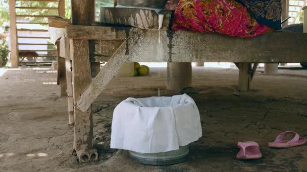 eingeweichtes Reismehl, das aus dem nassen Reismahlen mit dem Mahlstein gewonnen wurde