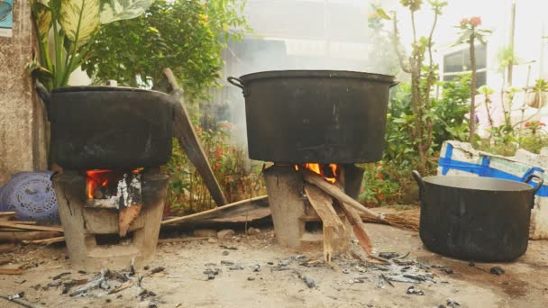 Cooking pots on charcoal brazier