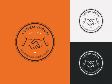 Sales consultant, sales trainer or mystery shopper company logo.