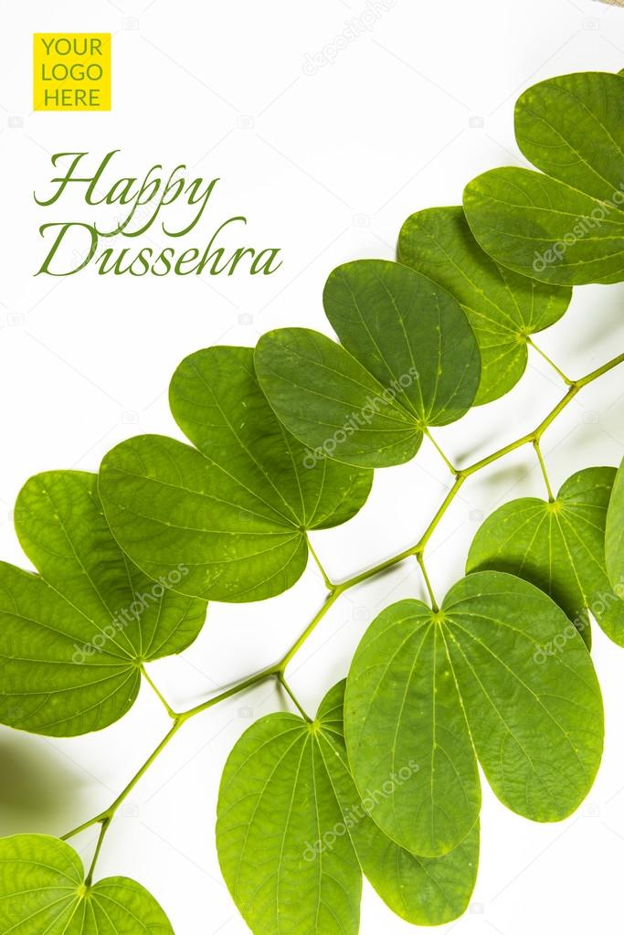 Happy dussehra greeting card indian festival dussehra exchanging happy dussehra greeting card indian festival dussehra exchanging golden leaf greeting card m4hsunfo