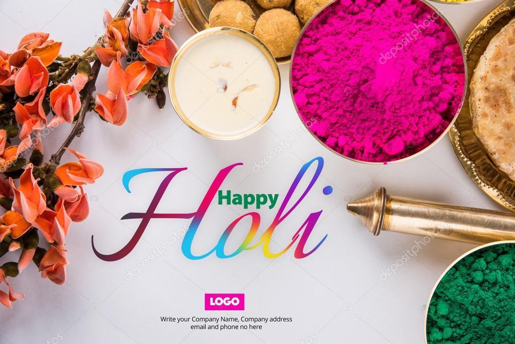 Happy holi greeting card holi wishes greeting card of indian happy holi greeting card holi wishes greeting card of indian festival of colours called m4hsunfo