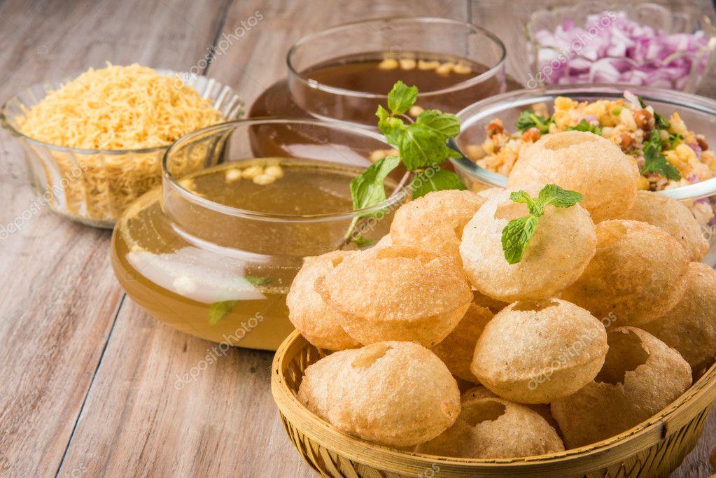 Pani Puri or panipuri, Golgappe or gol gappe, Chat item