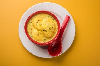 traditional  Indian dessert Rasmalai  or Ras Malai, indian sweet rasmalai or ras malai, famous bengali sweet