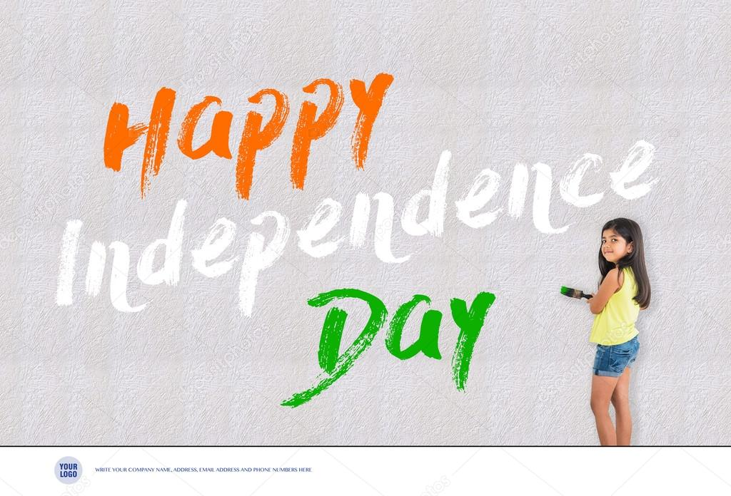 Independence day of india greeting card happy independence day 15 independence day of india greeting card happy independence day 15 august greetings stock m4hsunfo