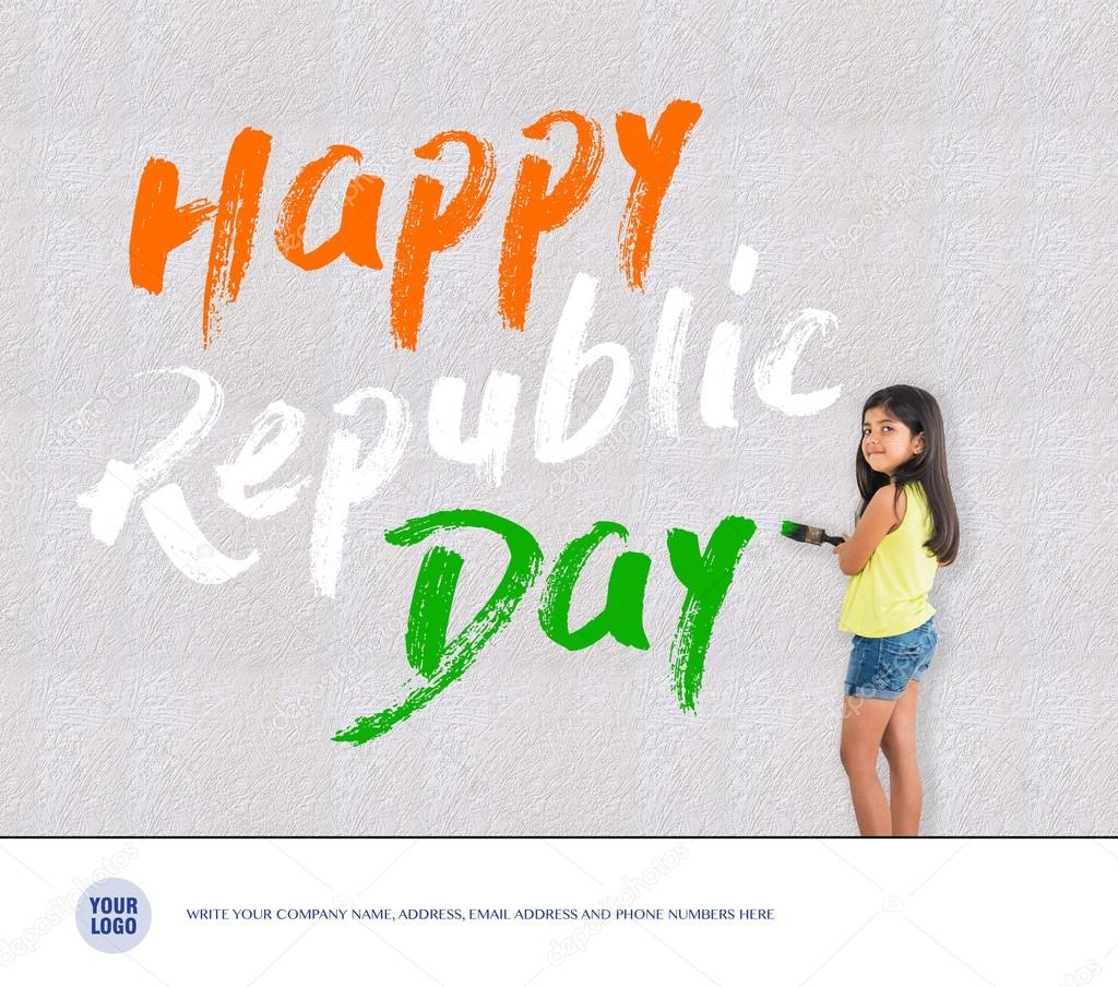 Happy republic day of india greeting card 26 january greetings happy republic day of india greeting card 26 january greetings stock photo m4hsunfo