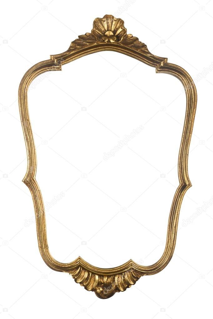 Vintage gold mirror frame — Stock Photo © macondos #100326400