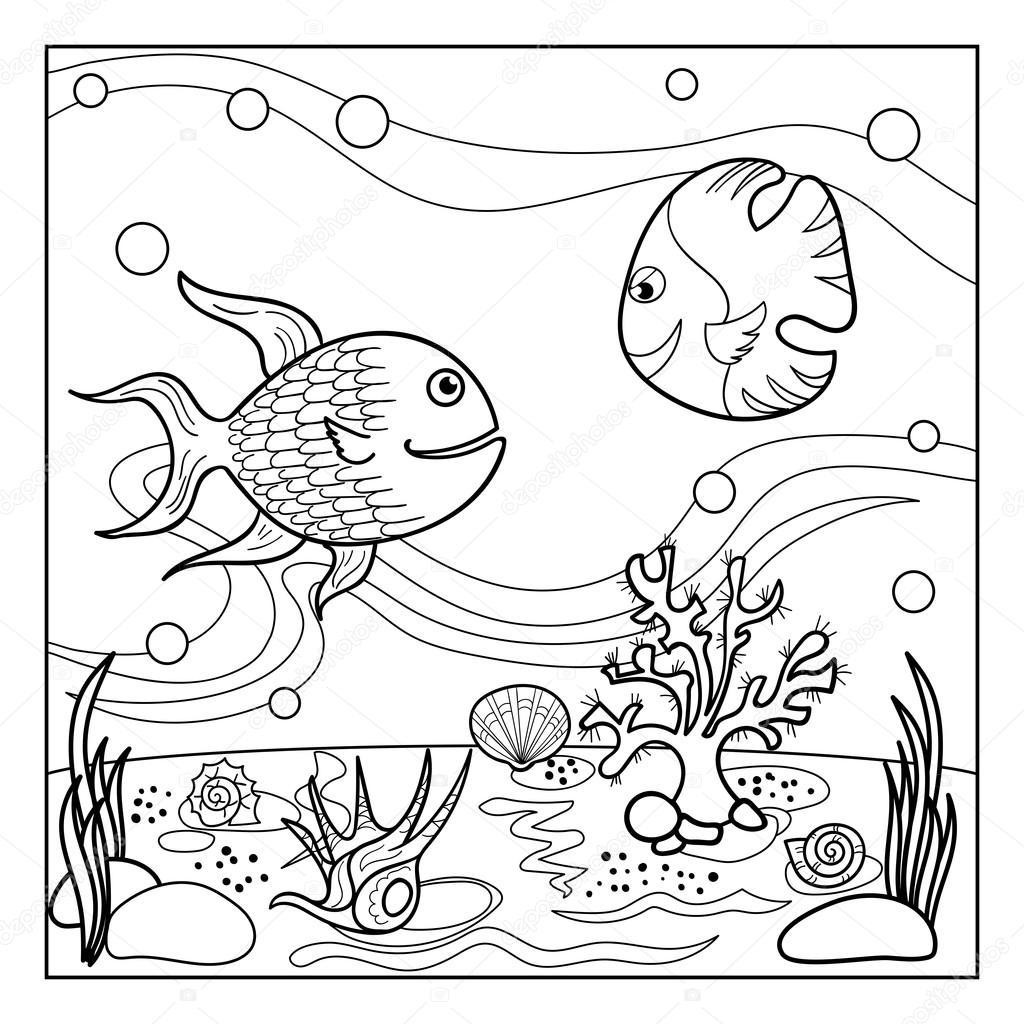 kleurplaat paginaoverzicht onderwaterwereld met